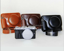CC1149 PU Leather Camera Bag Case with Camera Strap for Fujifilm X-70 X70 DSLR Photo Bag Shoulder Bag Case 3 Colors
