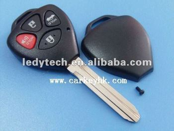 key blank of Toyota 3+1 buttons remote key no logo