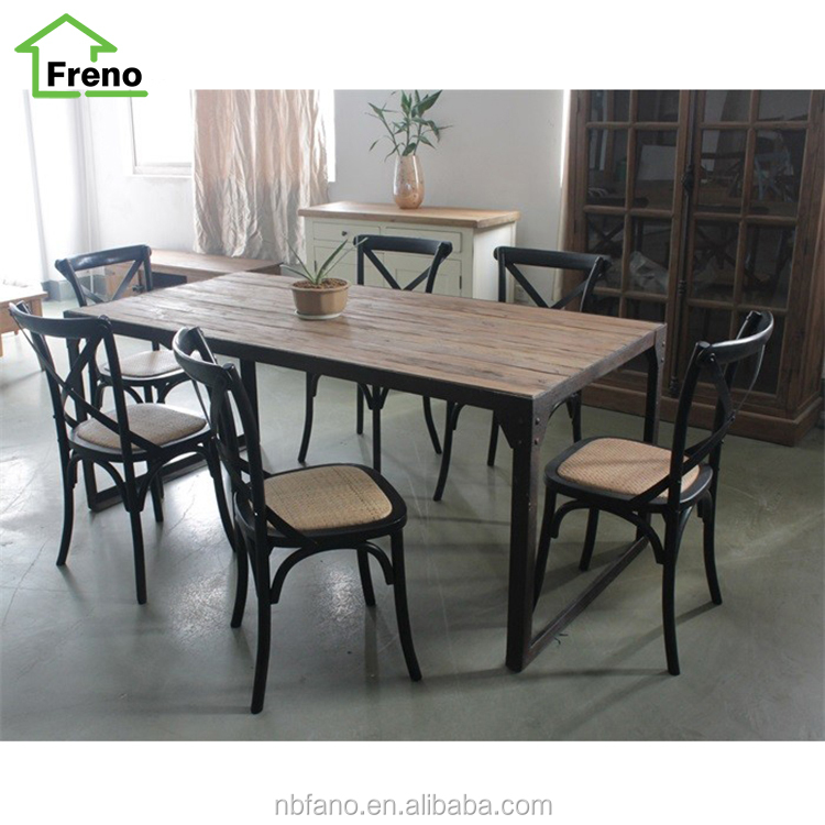 Vintage Industrial Furniture French Provincial Furniture Reclaimed Wooden Dining Sets
