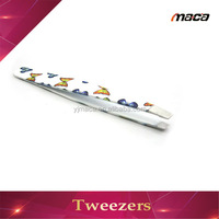 TW1183 fast delivery colourful print spary beauty eyebrow tweezers