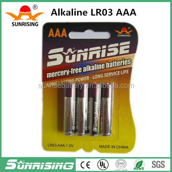 AAA Alkaline Batteries 1.5v Bulk Batteries Toy Supply Power 4pcs/card