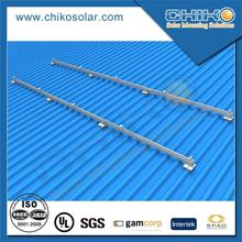 Home solar panel bracket set on trapezoidal sheet iron roof