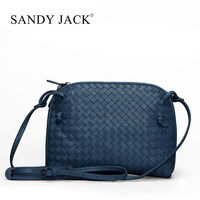 fashion Style Women Gender french designer leather handbags with single strap sholder bag in dark blue color bags