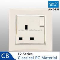 Good Price PC Material 13A Socket Switched