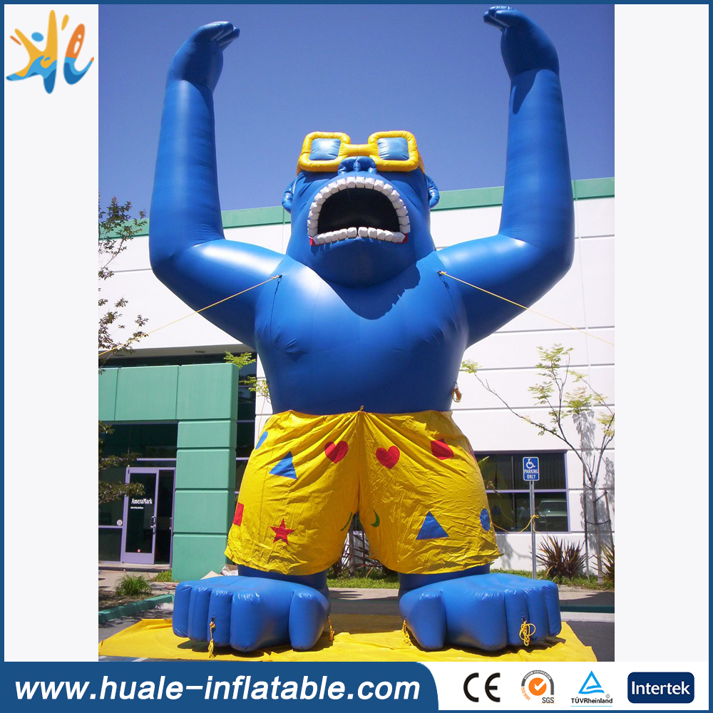 20ft advertising giant inflatable gorilla with logo printing for promotion