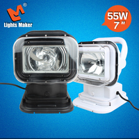 Black Wireless 55w hid xenon search light with swich for marine , police and patrol car