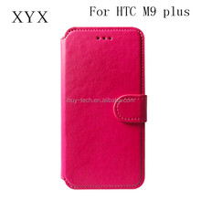 Bright color luxury design cheap prcie pu leather wallet cell phone case for htc one m9 plus leather cover