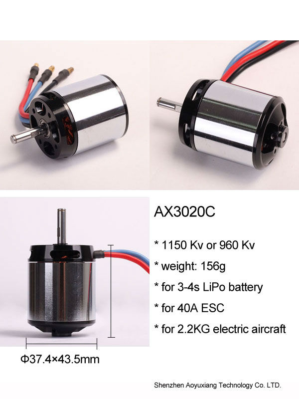 BLDC outrunner brushless motor AXN3020C for aircraft toy