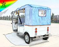 2017 Powerful Custom Solar Passenger Standard Electric Tricycles For Sale