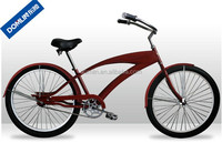26 inch hi-ten steel frame single speed chopper bike style beach cruiser bike