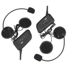 2PCS Bluetooth Motorcycle Helmet Intercom Interphone FM Radio