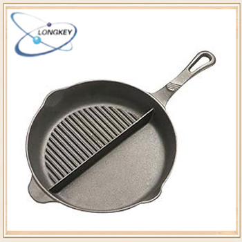 die casting iron divided frying pan LFGB