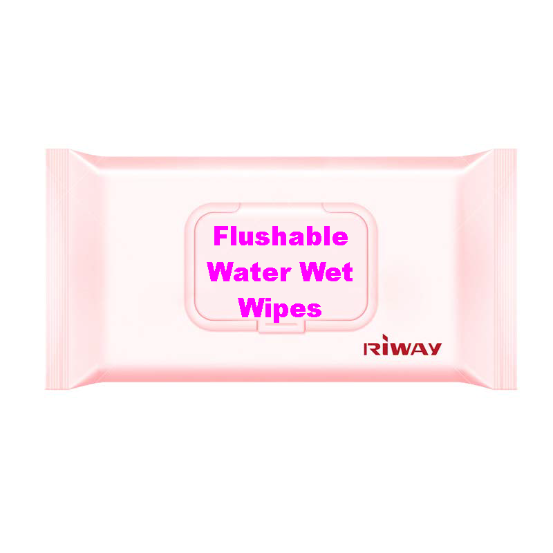 Flushable Water Wet Wipes Eco-friendly Wet Wipes Cleansing Tissues