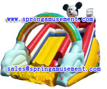 Commercial inflatable water slide with pool made of 0.55mm pvc tarpaulin FOR SALE SP-SL092