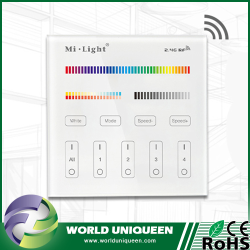 Mi Light B4 2.4G 4-Zone RGB+CCT Smart Touch Panel Remote Controller