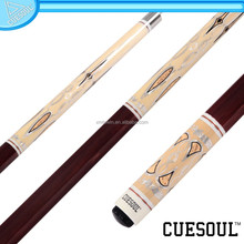 CUESOUL 2015 Top Design 1/2 Pool Cue Maple Shaft,Quick Release and Rubber Wrap