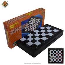 Magnetic plastic fold checkers chess/checker chess pieces