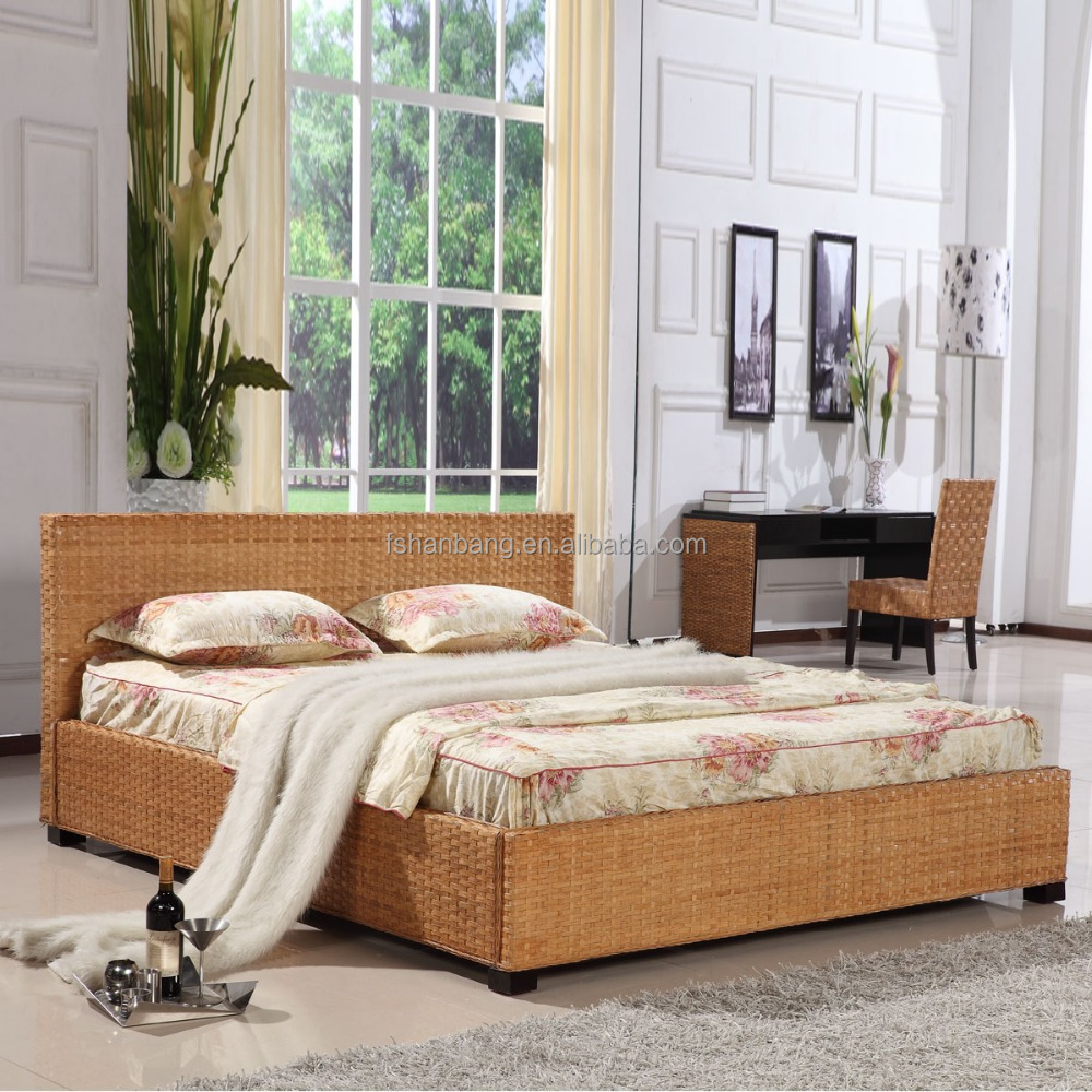 Premium Quality Designer 5 Star Resort Rattan Hotel Bedroom Furniture
