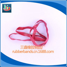 TPR pink color rubber bands