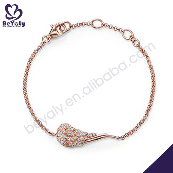 Gorgeous rose gold plating silver bracelet jewellery online