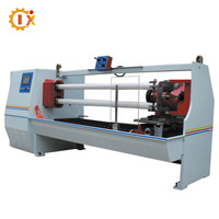 GL--702 Automatic minumum 1mm accurate pvc jumbo roll double shaft tape cutting machine
