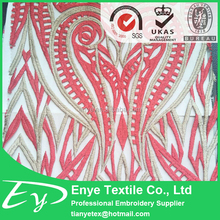 New product EY-14808 tulle mesh plain weave cotton embroidery fabric