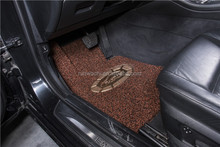 pvc car floor mat coil mat 12-18mm thickness double layered crystal gold series- black brown gold