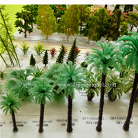 Artificial plastic and iron wire miniature scale model tree for architectural model or train model landscape layout