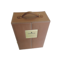 Luxury leather wine glass display box