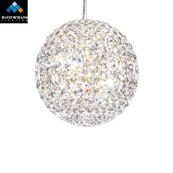 Country startand crystal ball drop pendant lamp