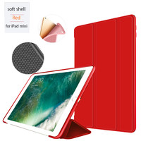 For iPad Mini1/2/3 Smart Case Cover With Magnetic Auto Sleep/Wake Function PU Leather Shockproof Silicon Soft