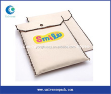 Eco recycled snap closure canvas book pouch