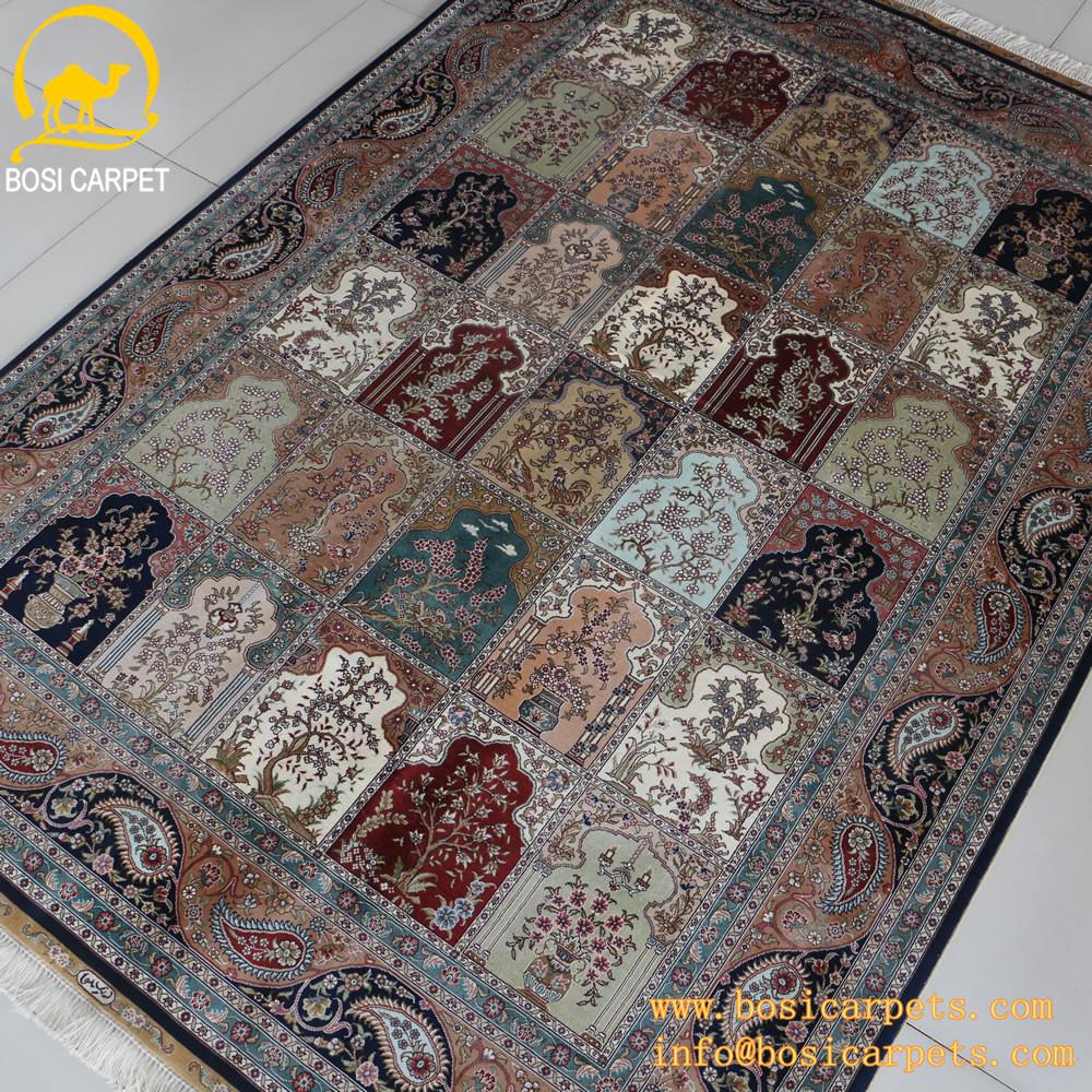 5.5x8ft patchwork quattro stagioni tappeto di seta tappeto ...