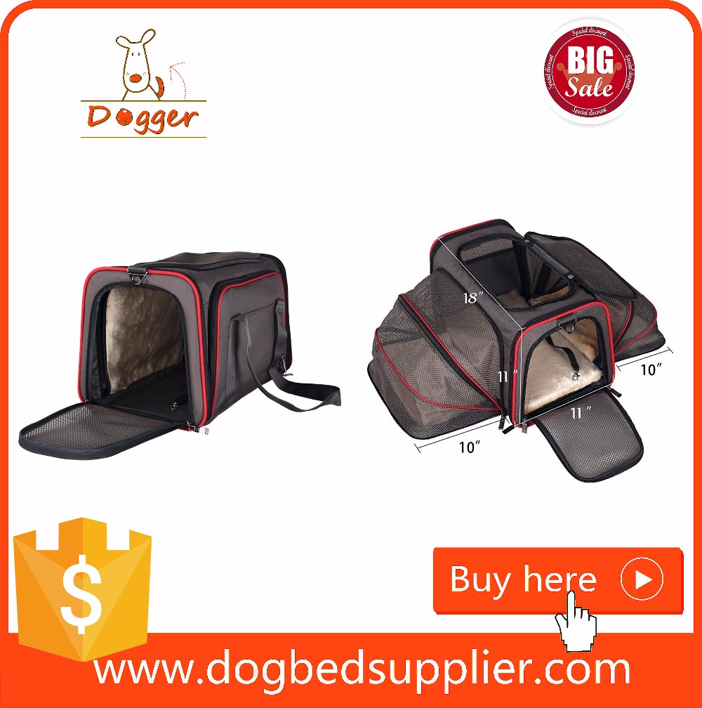 airline approved small animal carrier/carrier for dogs on bikes/sherpa expandable pet carrier