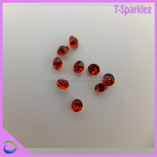 pointed round bead 3mm crystal chatons glass stone for fabric