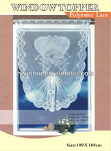 Polyester Walmart Lace Kitchen Curtains With Heart