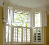 modern style white Framed Board & Batten Wood Shutters