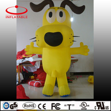 Advertising yellow inflatable dog, inflatable decoration cartoon