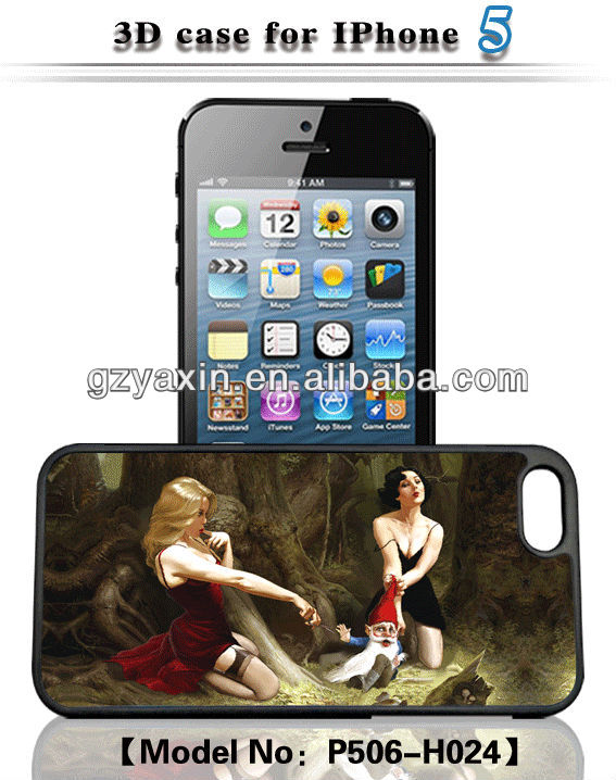 "2d 3d animel sex girl mobile phone case,for iphone 5"" case 3d"