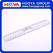 20cm transparent straight plastic ruler with handle
