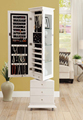 Big Multifunctional rotating jewelry cabinet mirror