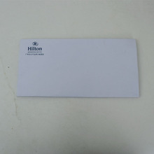 white contracted custom small art paper hotel card envelopes