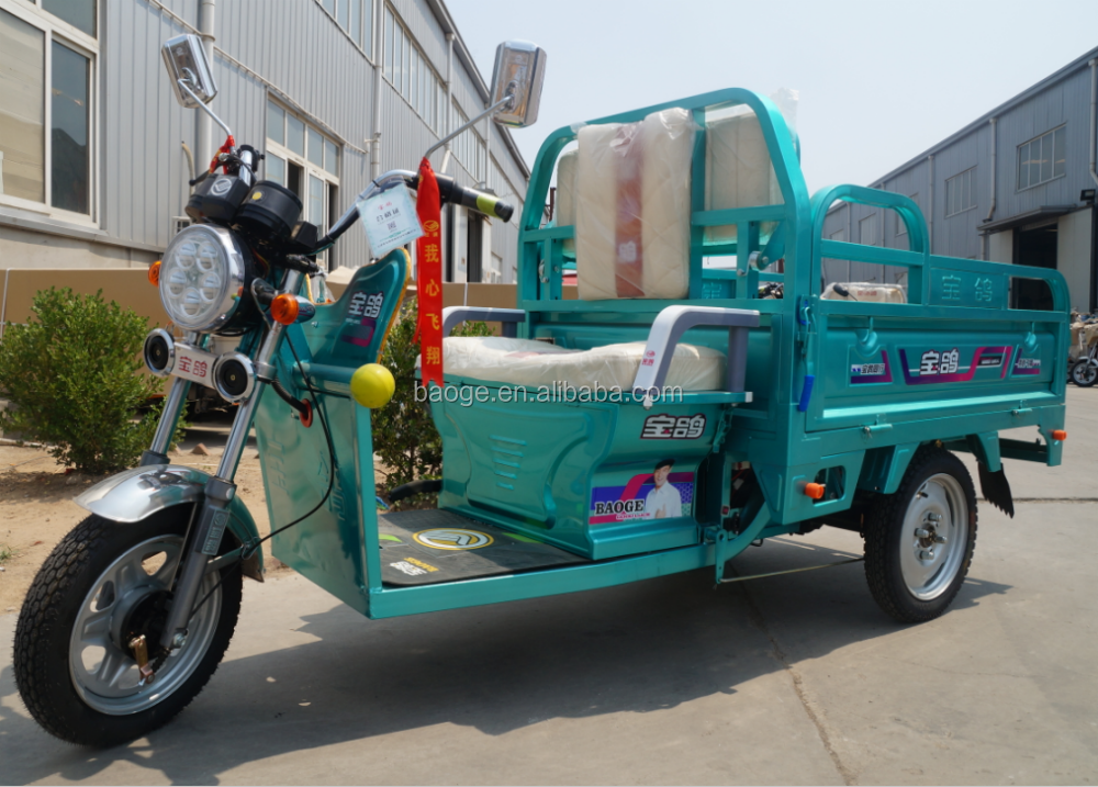 Cargo and adult electric tricycle with passenger seat for sale