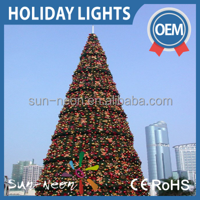 Outdoor Christmas Decoration Led Light Large Artificial Christmas Trees Light