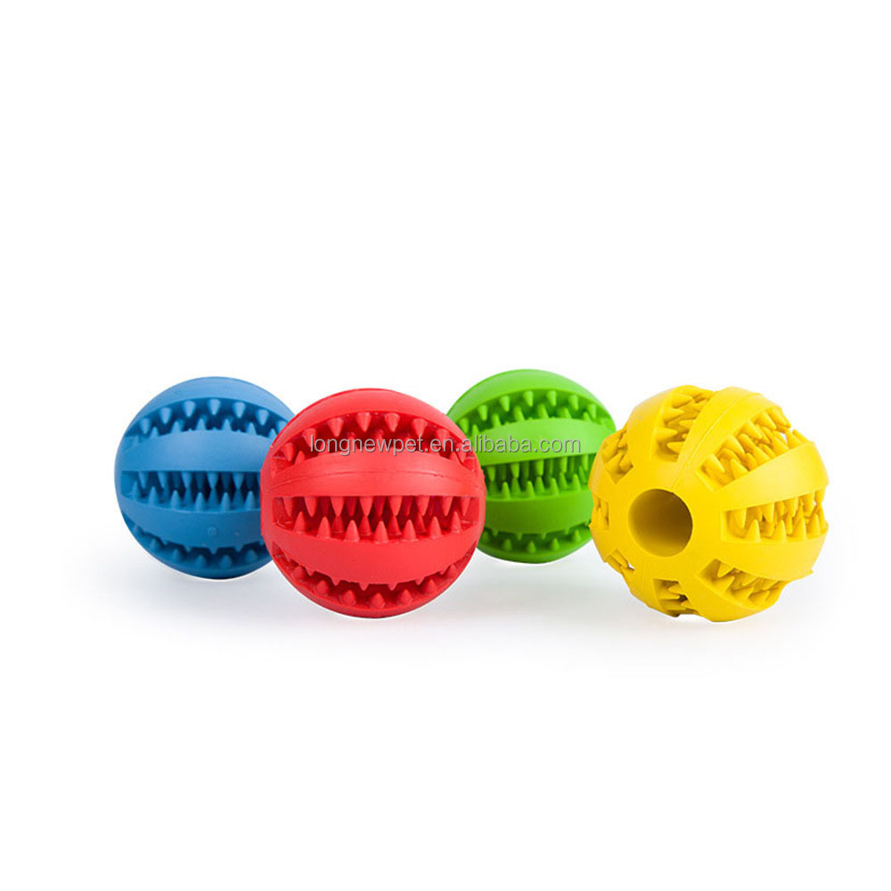Quality Dog Natural Rubber Chew Molar Teeth Ball Toy Tough Dog Toy