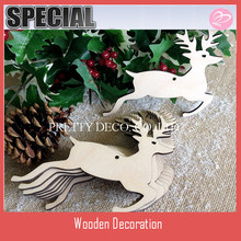 10 Wooden Christmas Reindeer Blank Craft Shapes garland Decorations