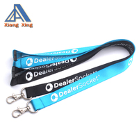 Fashion Style Polyester Material Customised Silkscreen Printing Neck Strap Lanyards