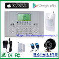 Top quality LCD show screen wireless home alarm systems with APP remote control