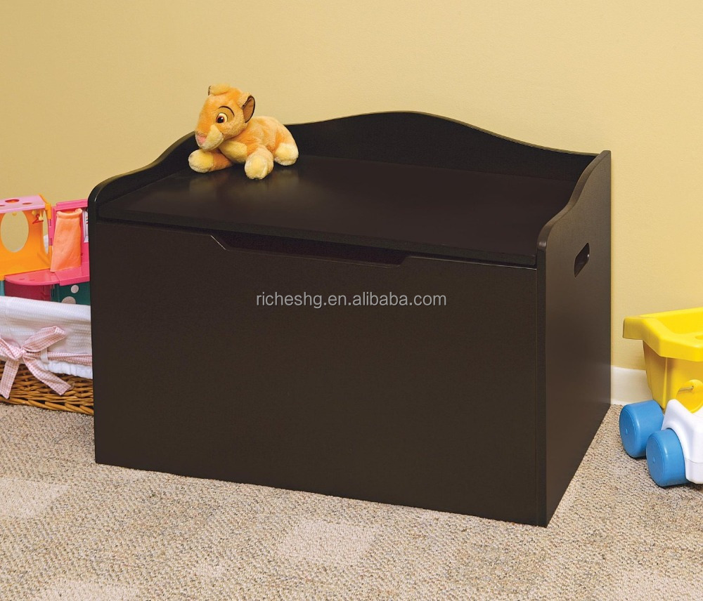 brown finish Bench Top Toy Box, toy box safa