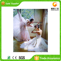 Wholesale price modern room decor canvas rhinestone embroidery dancing women oil painting